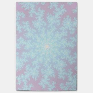 雪片のフラクタルの水の青 ポストイット