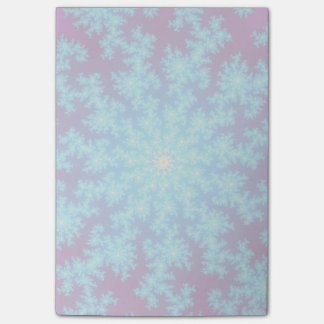 雪片のフラクタルの水の青 ポスト・イット®ノート