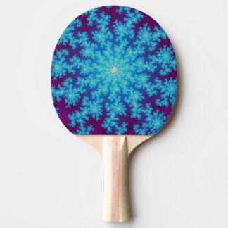 雪片のフラクタルの水の青 卓球ラケット