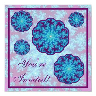 雪片のフラクタル: 水の青 カード