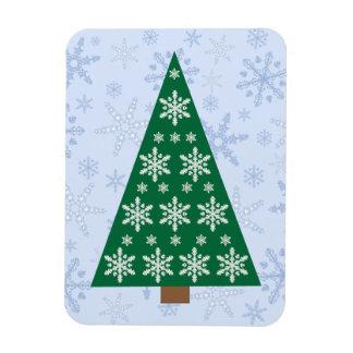 雪片のブリザードの雪片のクリスマスツリー マグネット