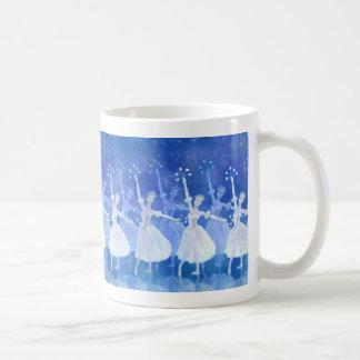 雪片のマグのダンス コーヒーマグカップ