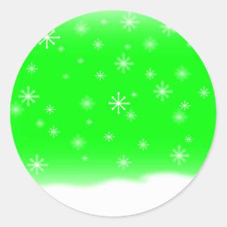 雪片のライム ラウンドシール