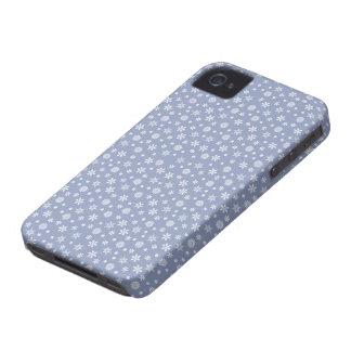 雪片の休日のカスタムなブラックベリーの箱 Case-Mate iPhone 4 ケース