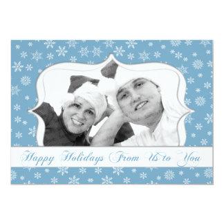 雪片の写真の休日カード カード