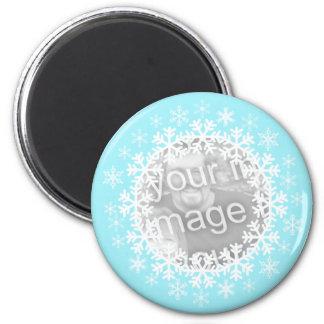 雪片の写真の磁石 マグネット