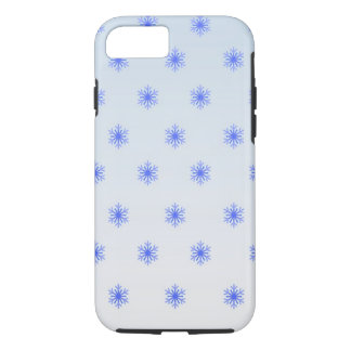雪片の勾配の冬の電話箱 iPhone 8/7ケース