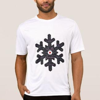 雪片の単語芸術のデザイン: ユニーク、十分に人間 Tシャツ