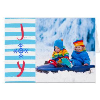 雪片の喜び|のクリスマスの休日の挨拶状 カード