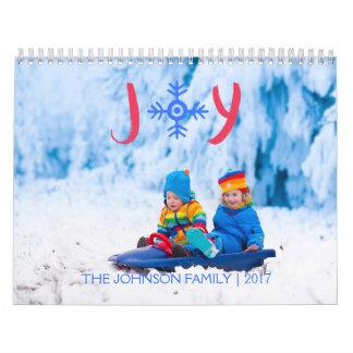雪片の喜び| 2017年のカスタムなカレンダー カレンダー