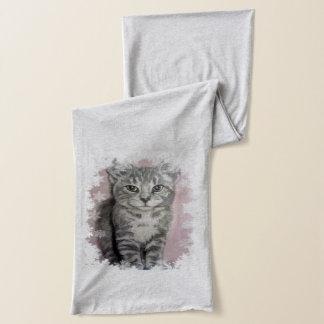 雪片の子ネコのスカーフ スカーフ