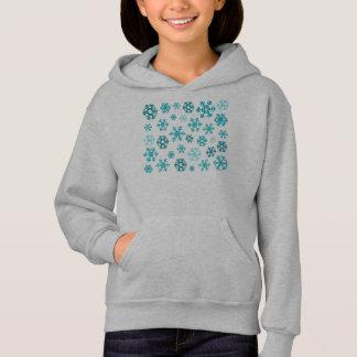雪片の子供のフード付きスウェットシャツ