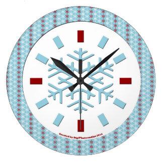 雪片の時計# 1 ラージ壁時計