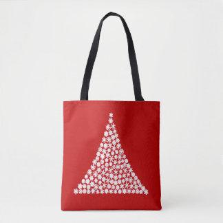 雪片の木のクリスマスのトートバック トートバッグ