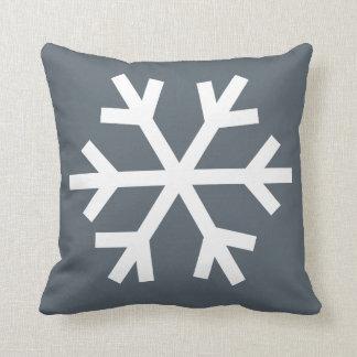 雪片の枕-灰色 クッション
