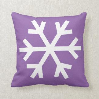 雪片の枕-紫色 クッション