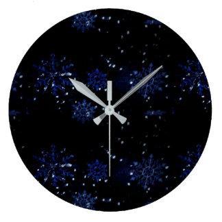 雪片の柱時計 ラージ壁時計