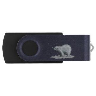 雪片の白くまUSBの旋回装置のフラッシュドライブ USBフラッシュドライブ