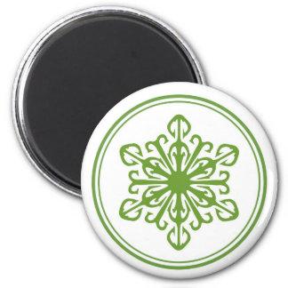 雪片の磁石-緑 マグネット