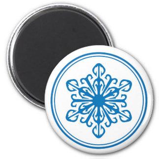 雪片の磁石-青 マグネット