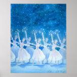 雪片の芸術のプリントのダンス ポスター
