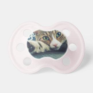 雪片の虎猫猫の休日カード おしゃぶり