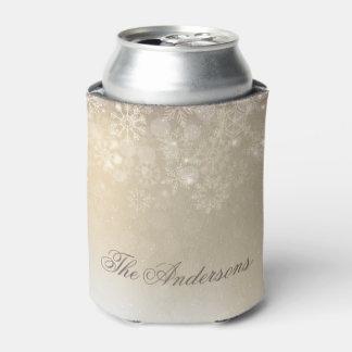雪片の金ゴールドの名前入りな休日 のクーラーボックス 缶クーラー