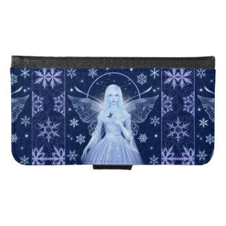雪片の銀河系S6のウォレットケースを持つ雪の妖精 GALAXY S6 ウォレットケース