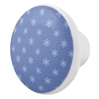 雪片の陶磁器のノブ セラミックノブ