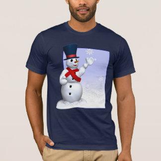 雪片の雪だるまのTシャツ Tシャツ