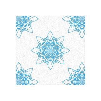 雪片の青 キャンバスプリント