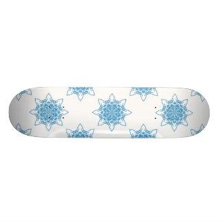 雪片の青 18.1CM オールドスクールスケートボードデッキ