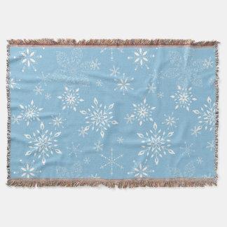 雪片のLt Blue スローブランケット