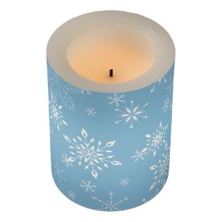 雪片のLt Blue LEDキャンドル