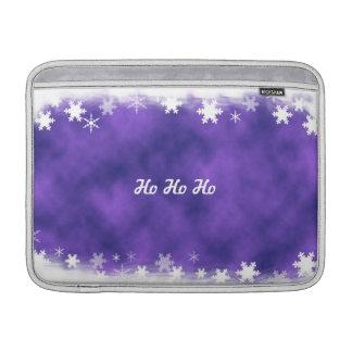 雪片のMacBookの紫色および白い袖 MacBook スリーブ