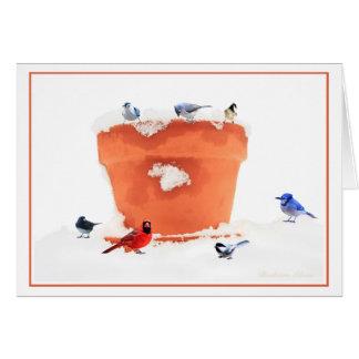 雪片は間違った場所鳥で落ちません カード