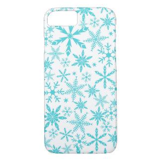 雪片パターンiPhone 7の場合/水 iPhone 8/7ケース