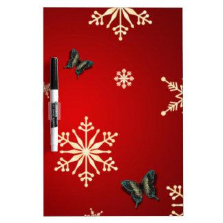 雪片及び蝶 ホワイトボード