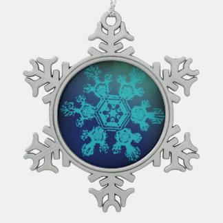 雪片1の雪片 スノーフレークピューターオーナメント