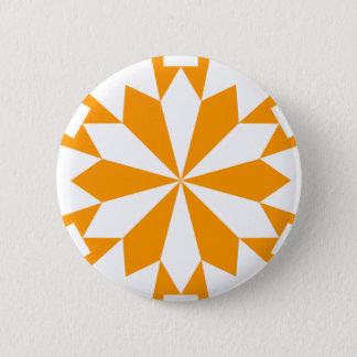 雪片15のオレンジ 5.7CM 丸型バッジ