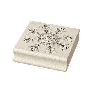 雪片4幾何学的なパターン芸術のスタンプ ラバースタンプ