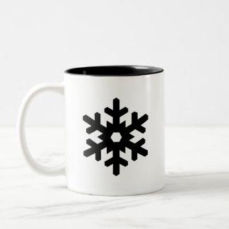 「雪片」のピクトグラムのマグ ツートーンマグカップ