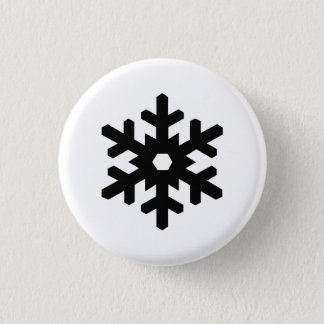 「雪片」のピクトグラムボタン 3.2CM 丸型バッジ