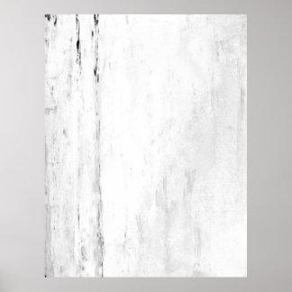 「雪片」の白黒抽象美術 ポスター