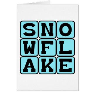 雪片、ユニークな雪 カード