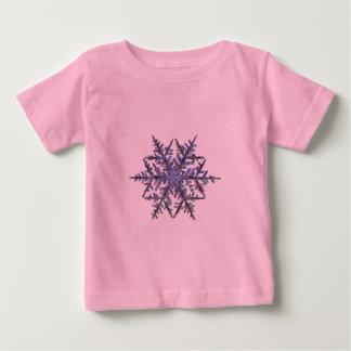 雪片、刺繍された一見 ベビーTシャツ