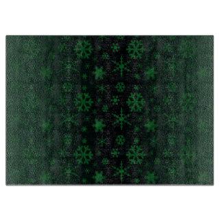 雪片-緑 カッティングボード