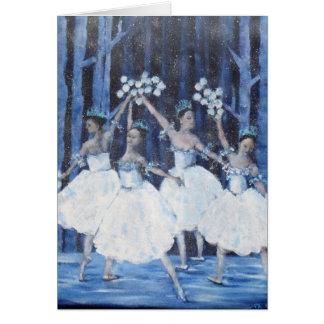 雪片Iのくるみ割りのバレエのダンス カード