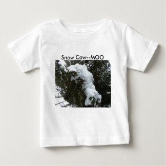 雪牛--MOO ベビーTシャツ
