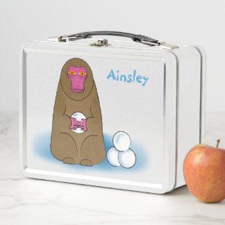 雪猿の雪玉の戦闘機のお弁当箱 メタルランチボックス